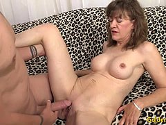 Old dame date Morgan masturbates and has sexual intercourse
