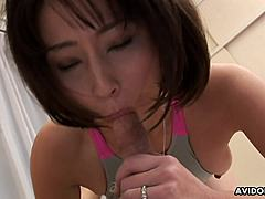Asian housewife, Yuki Mitsui copulates her attractive swimming teacher, uncensored