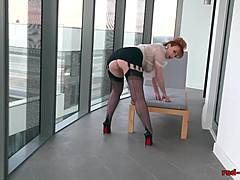 Red-haired Office prossie Plays With Her Red muff Mature Porn