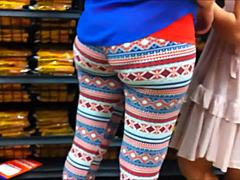 Mommy in rigid leggins animalism the store Mature Porn