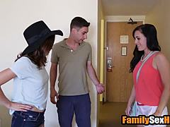 Step brother creampies sister following sexing her behind mom's agone
