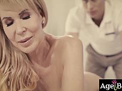 Luscious masseur michael vegas is desperate to give her supplementary fuck massage favour to this breasty gilf erica lauren and that sweetie utterly enjoyed it
