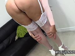 Bosomy cougar lulu attractive masturbate in beautiful flopper stopper